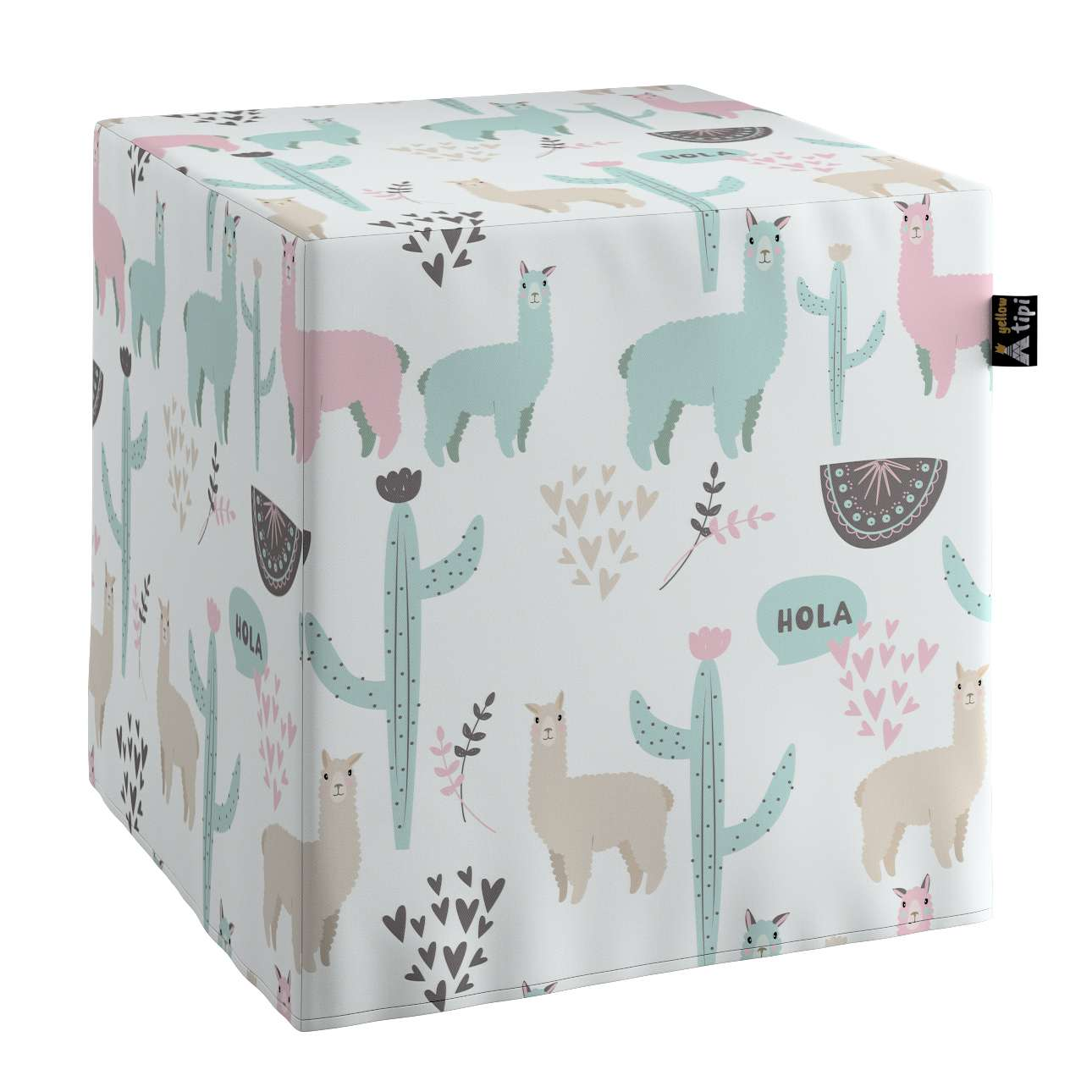 Nano cube pouf in collection Magic Collection, fabric: 500-01