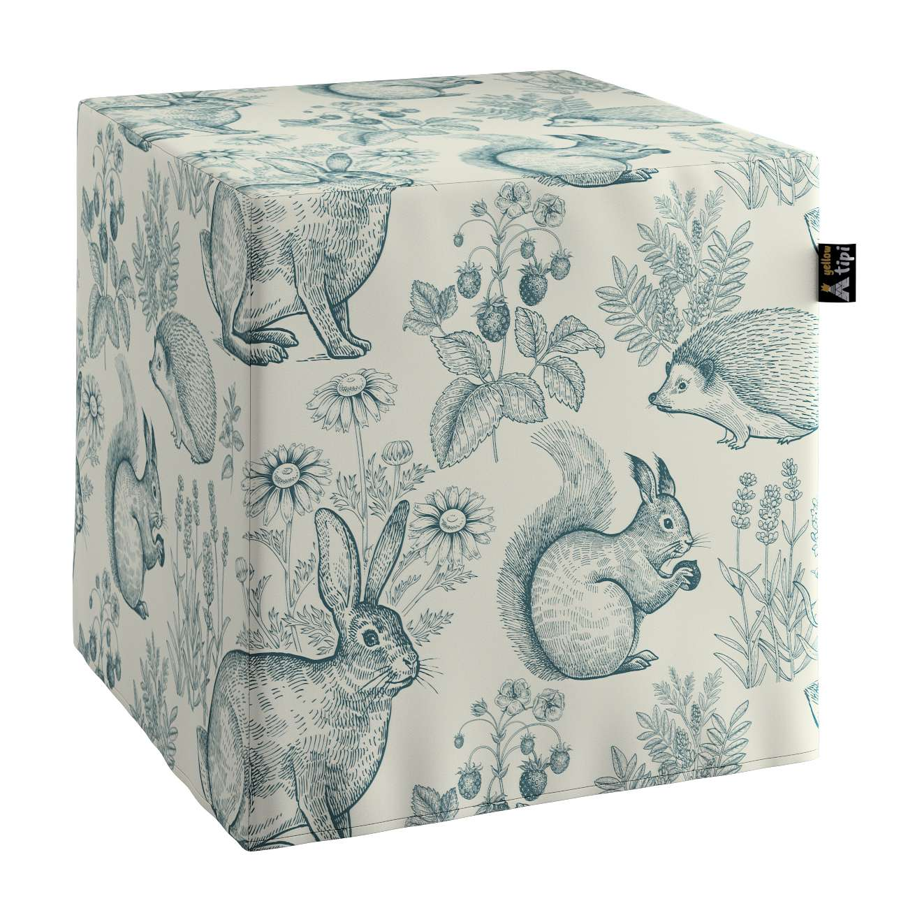 Nano cube pouf in collection Magic Collection, fabric: 500-04