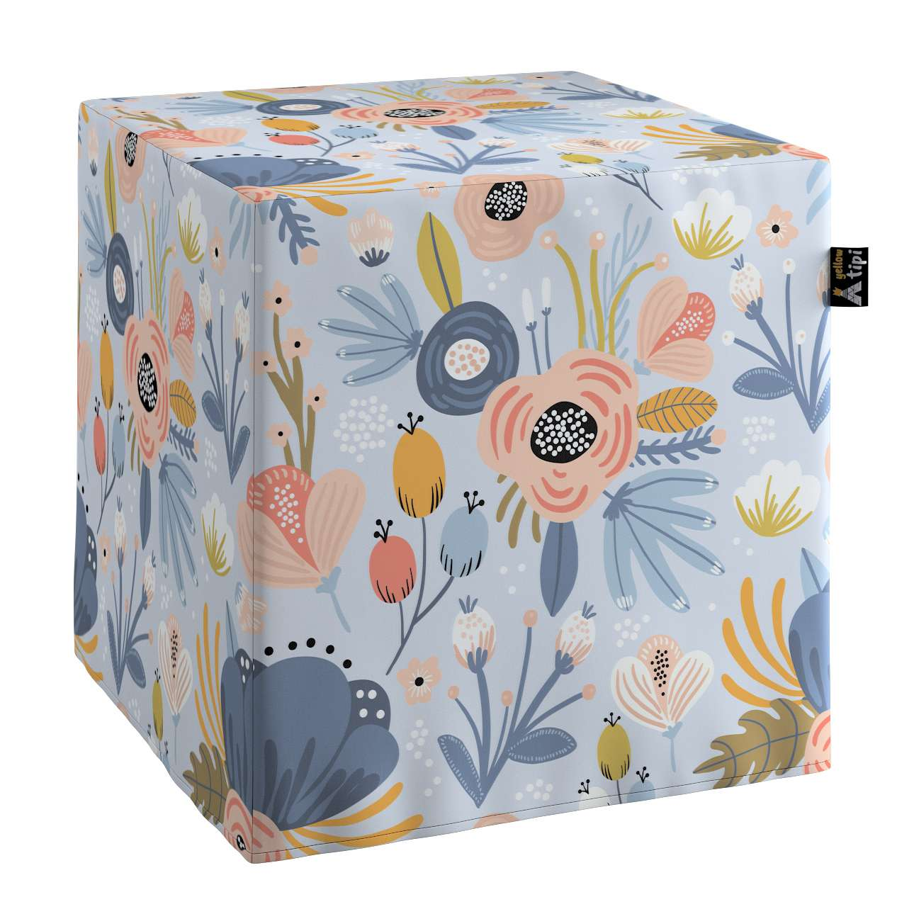 Nano cube pouf in collection Magic Collection, fabric: 500-05