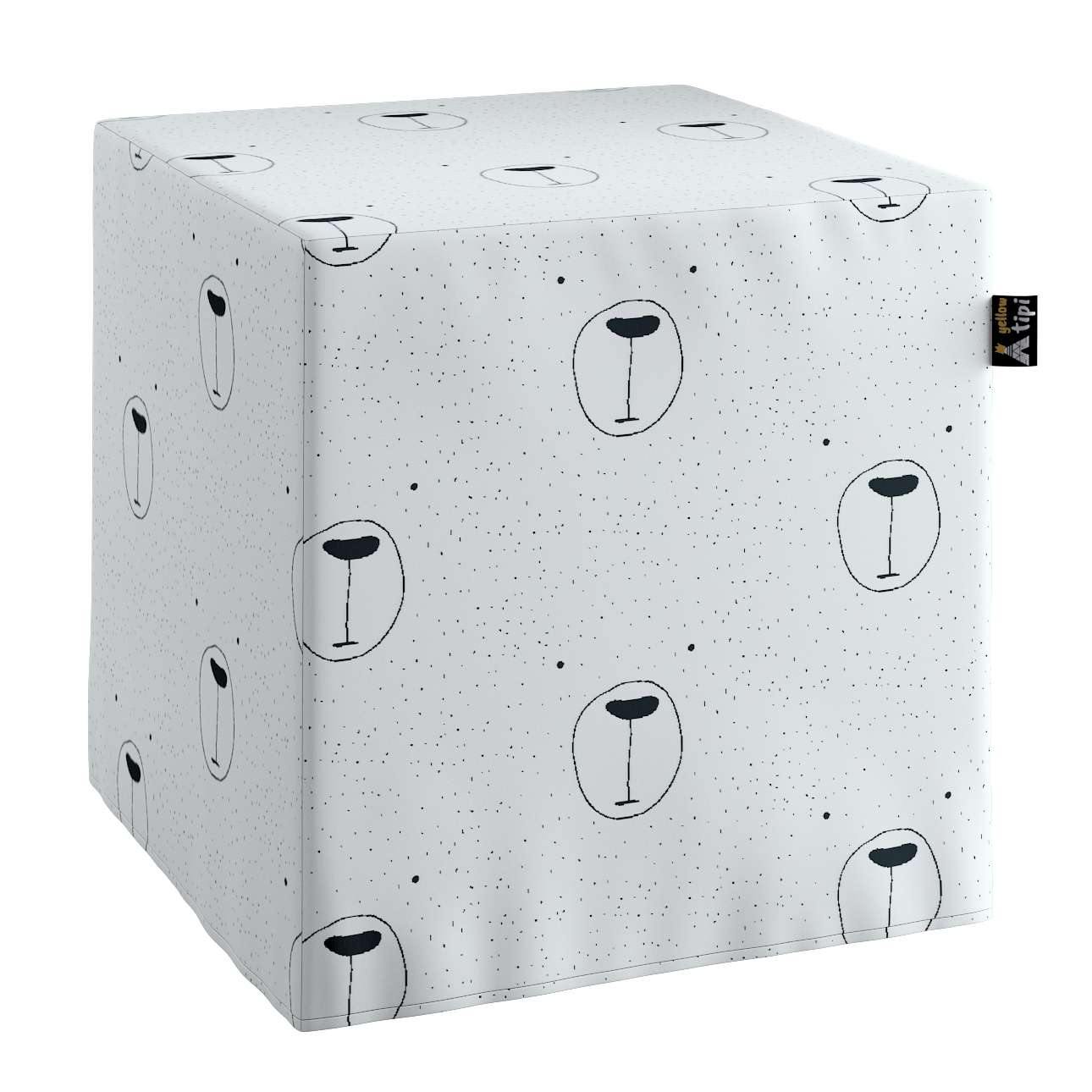 Nano cube pouf in collection Magic Collection, fabric: 500-06