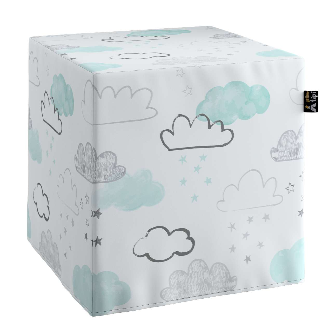 Nano cube pouf in collection Magic Collection, fabric: 500-14