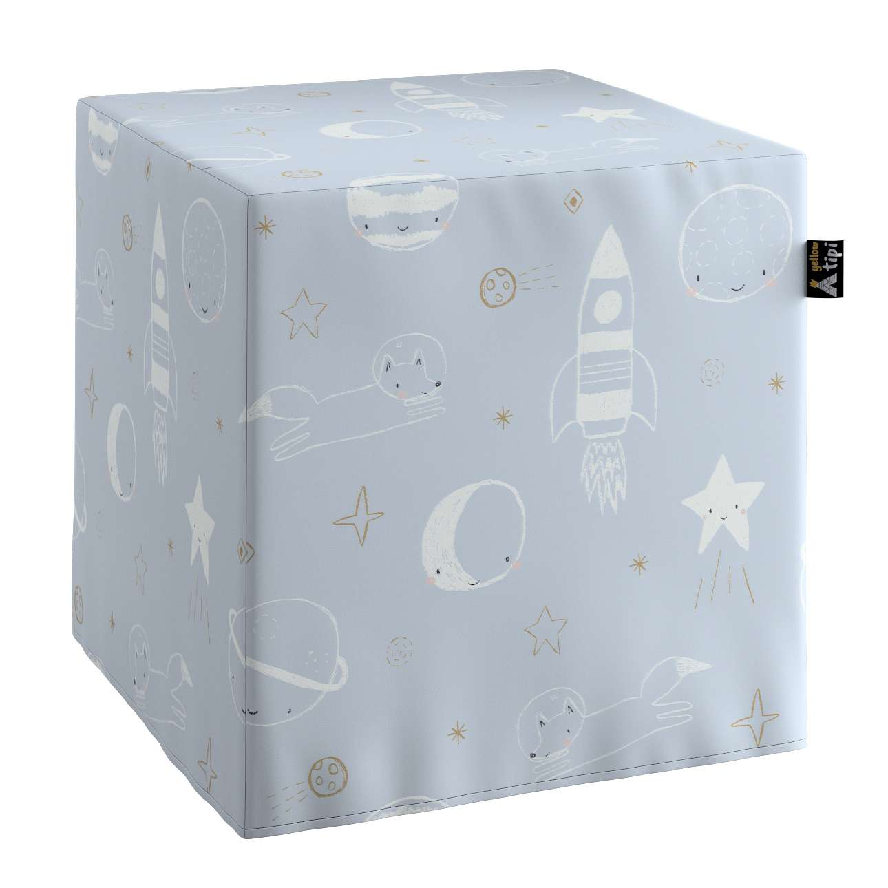 Nano cube pouf in collection Magic Collection, fabric: 500-16