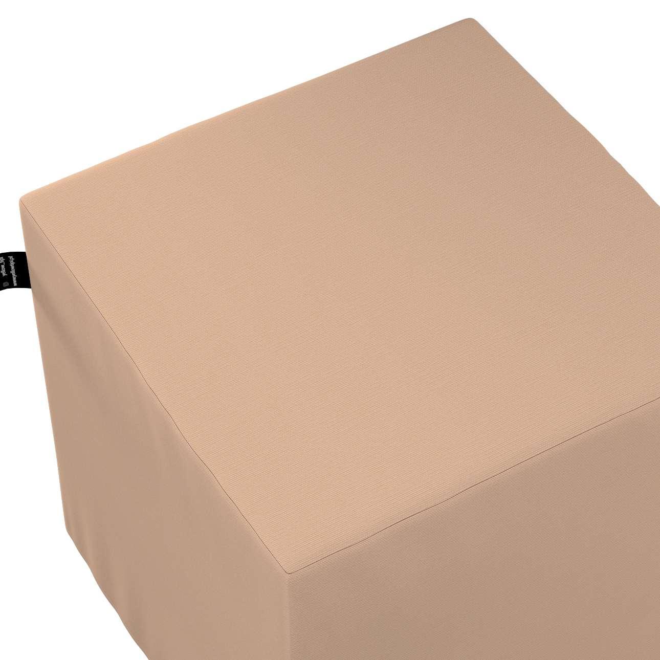 Puf kostka Nano w kolekcji Cotton Story, tkanina: 702-01