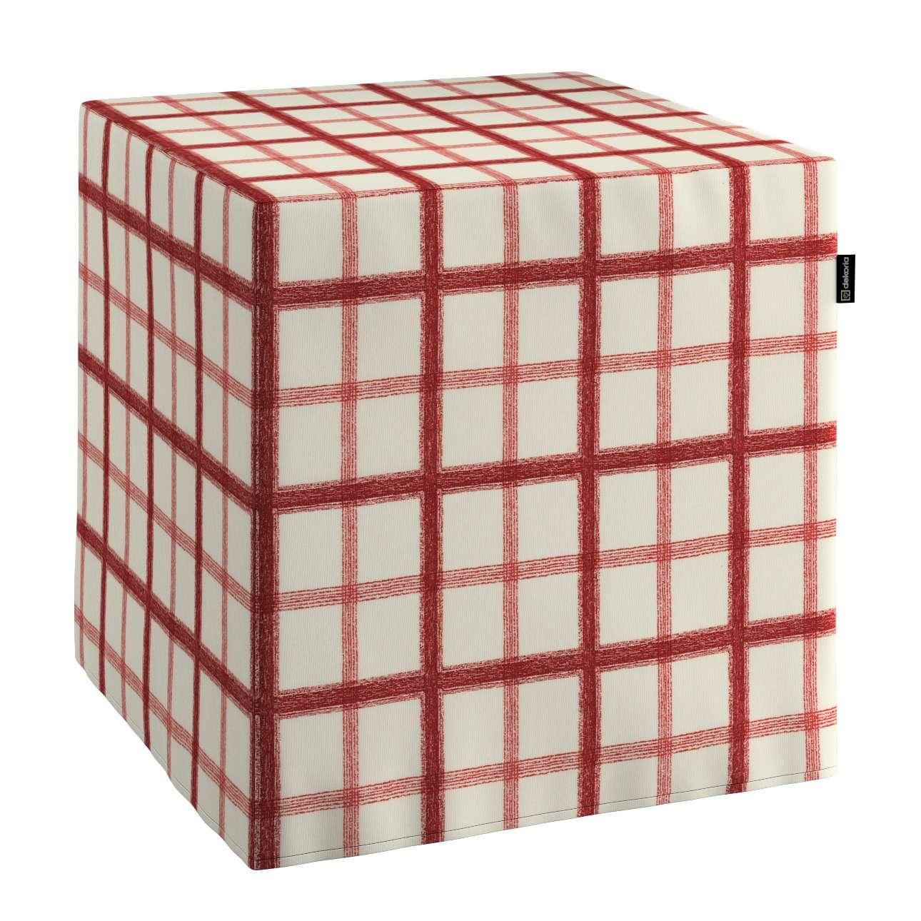 Sedák Cube - kostka pevná 40x40x40 v kolekci Avignon, látka: 131-15