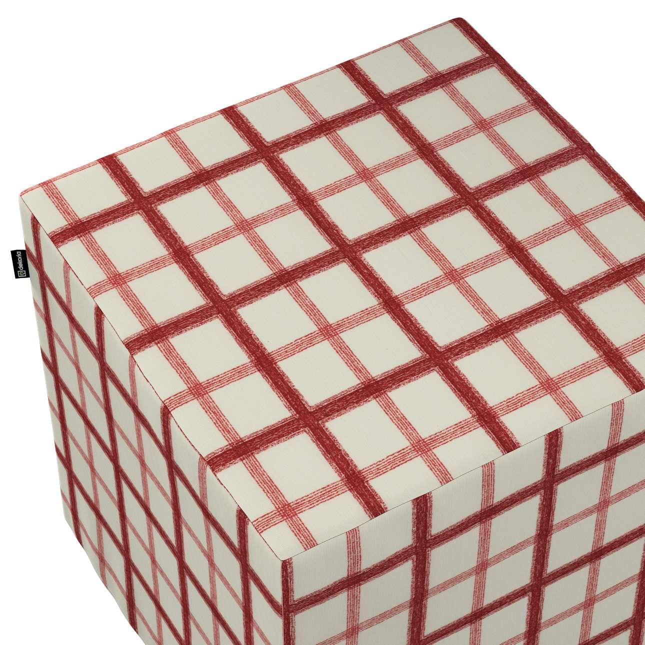 Pufa kostka w kolekcji Avinon, tkanina: 131-15