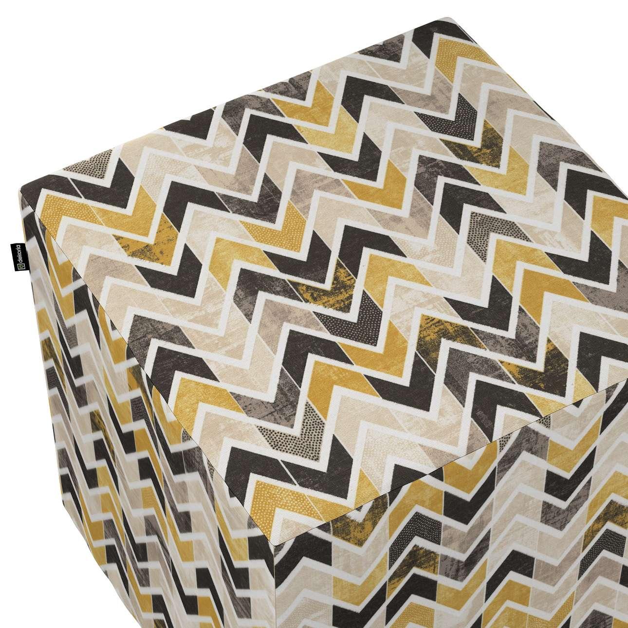 Taburetka tvrdá, kocka V kolekcii Modern, tkanina: 142-79