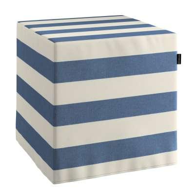 Taburetka tvrdá, kocka 142-70 modro - biele pásy Kolekcia Quadro