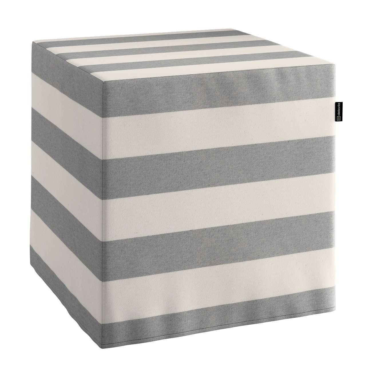 Taburetka tvrdá, kocka V kolekcii Quadro, tkanina: 142-71