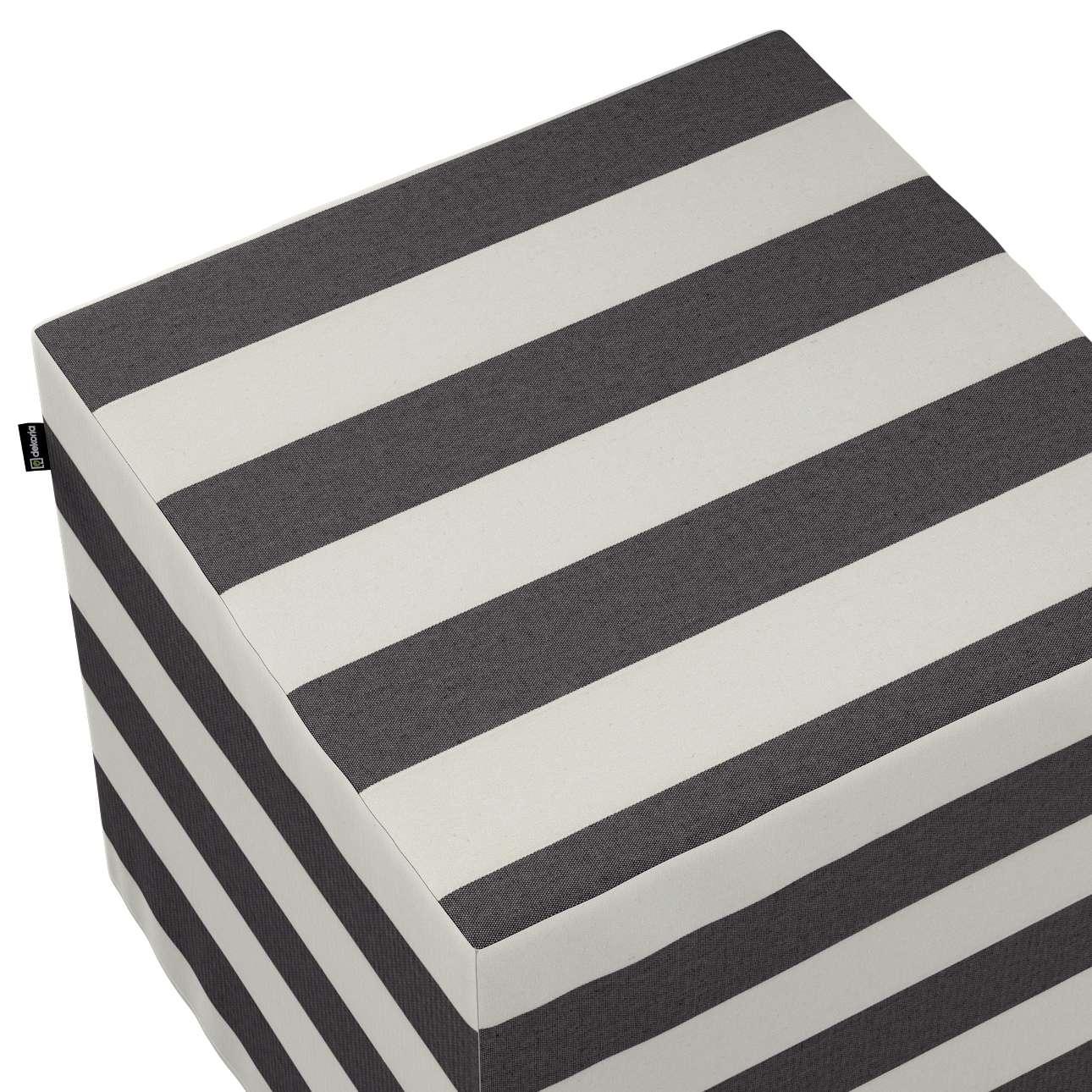 Pufa kostka w kolekcji Quadro, tkanina: 142-72