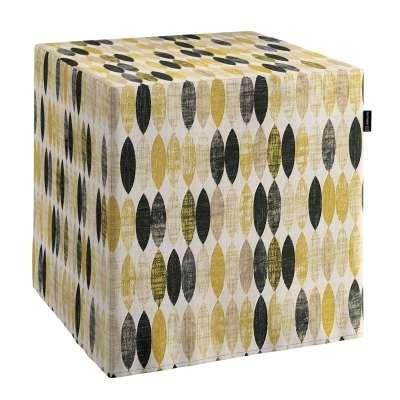 Pufas 142-99 garstyčių-juodos-smėlio spalvos zigzagai šviesiame fone Kolekcija Modern
