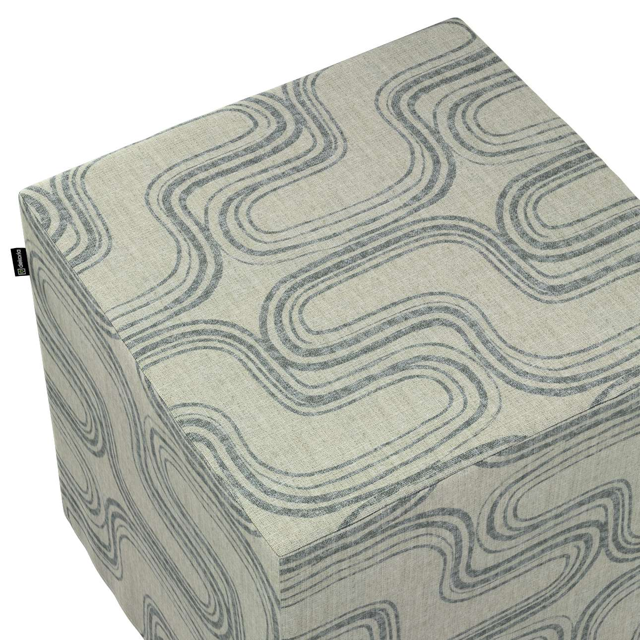 Taburetka tvrdá, kocka V kolekcii Comics, tkanina: 143-14