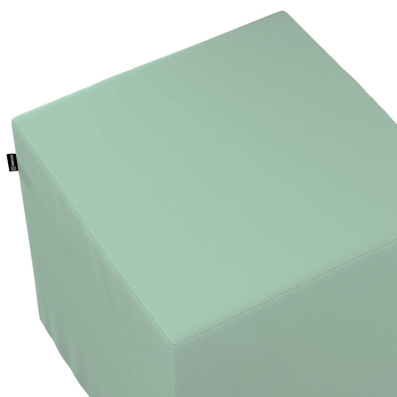 Taburetka tvrdá, kocka V kolekcii Loneta, tkanina: 133-61