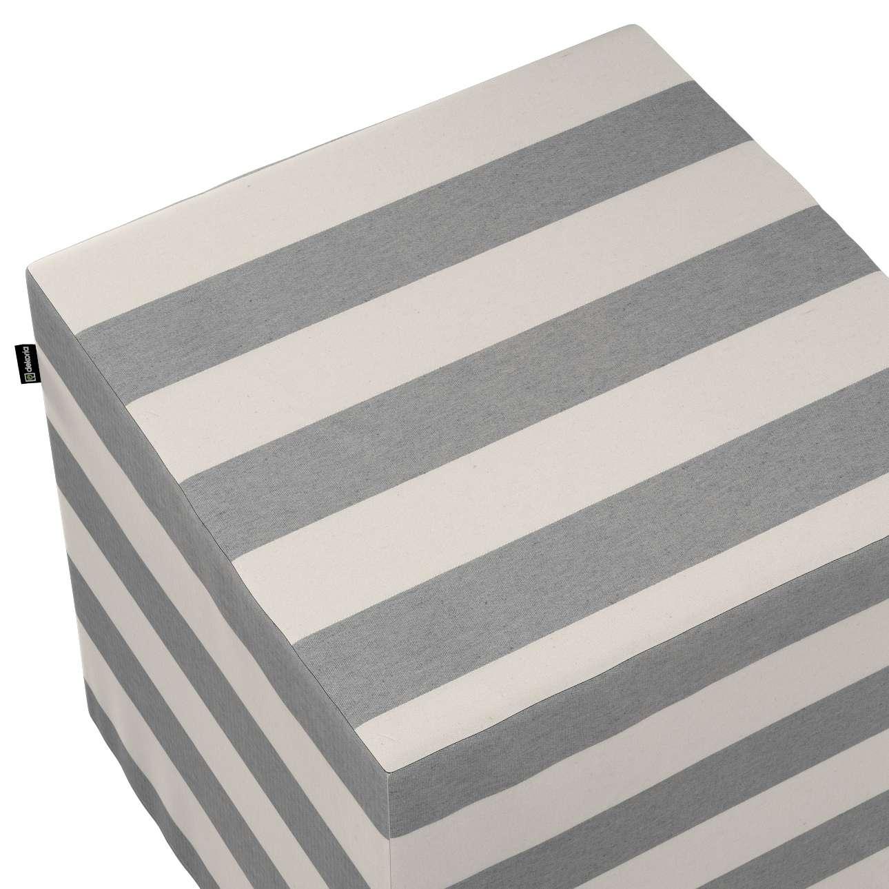 Siddepuf og fodskammel fra kollektionen Quadro II, Stof: 142-71
