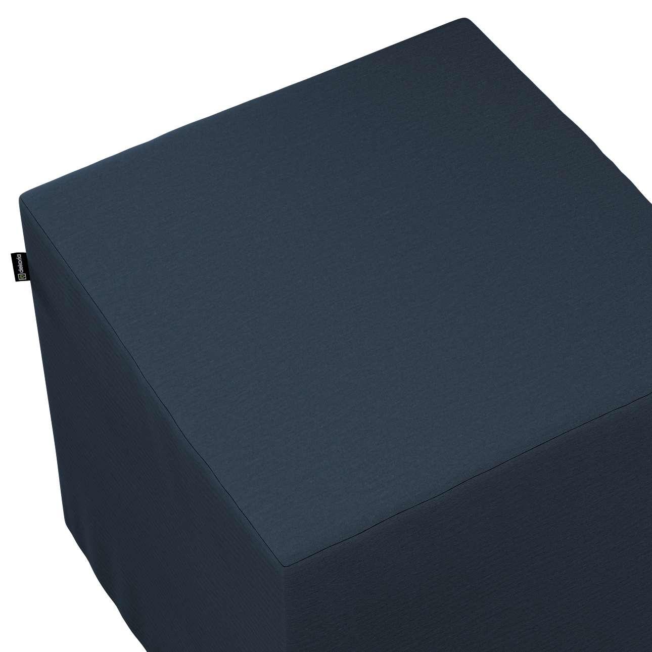 Siddepuf og fodskammel fra kollektionen Quadro II, Stof: 136-04