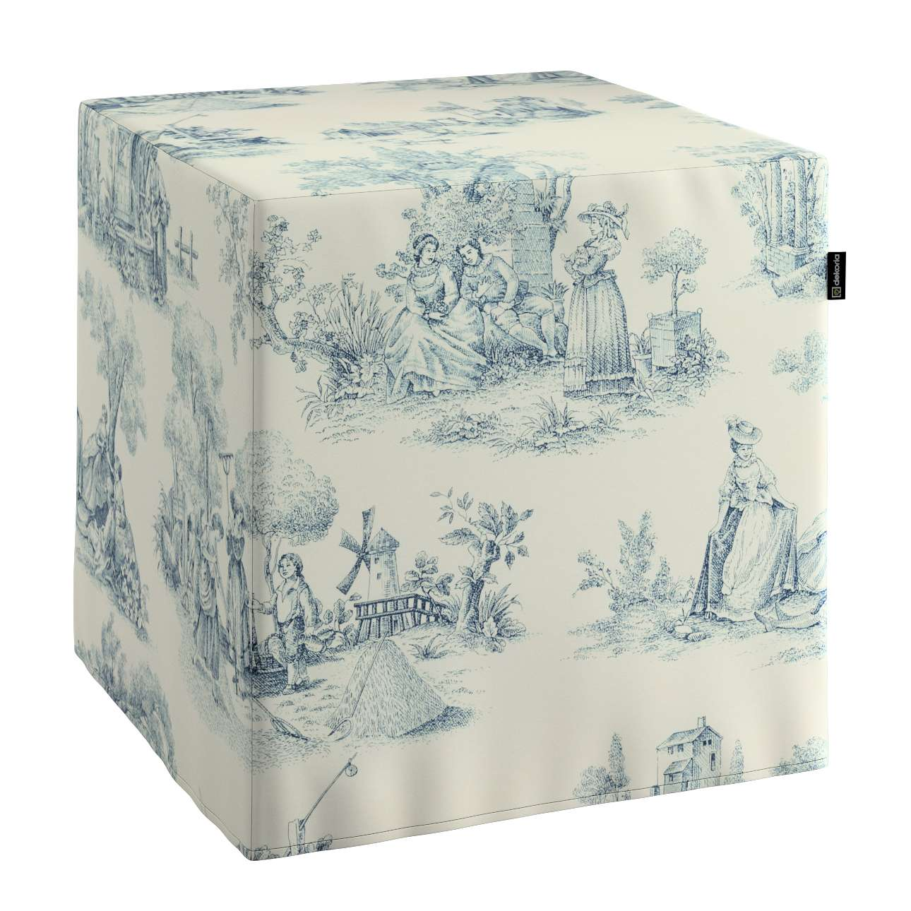 Sedák kostka - pevná 40 x 40 x 40 cm v kolekci Avignon, látka: 132-66