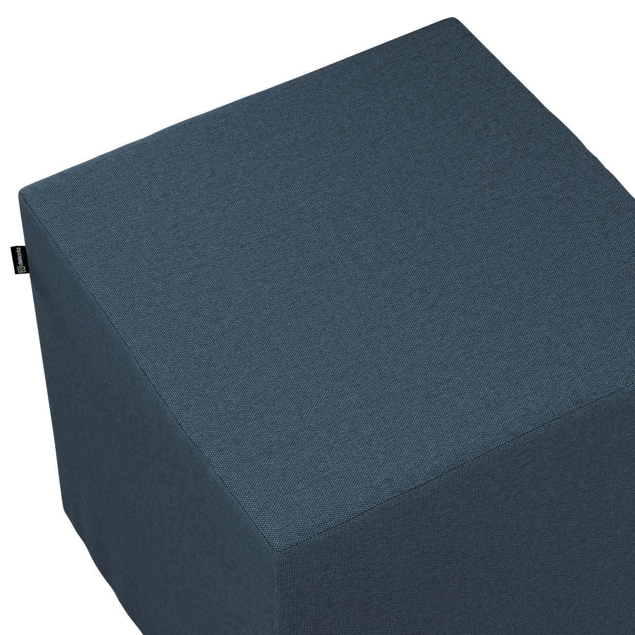 Siddepuf og fodskammel fra kollektionen Etna, Stof: 705-30