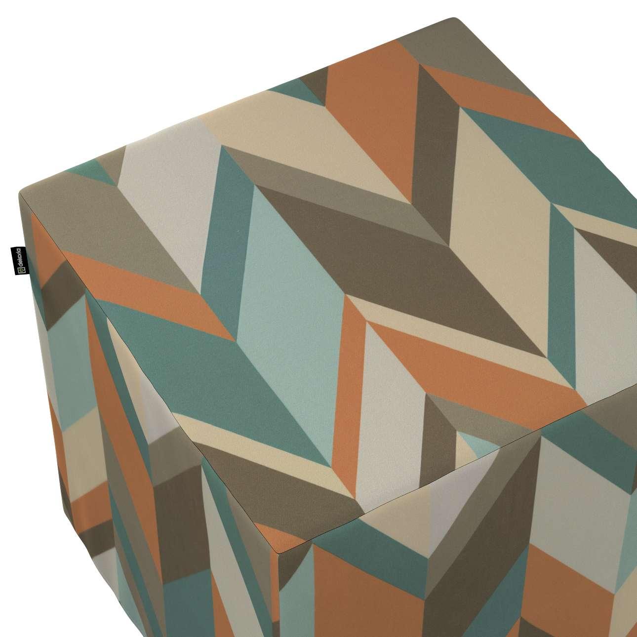 Pufa kostka w kolekcji Vintage 70's, tkanina: 143-62