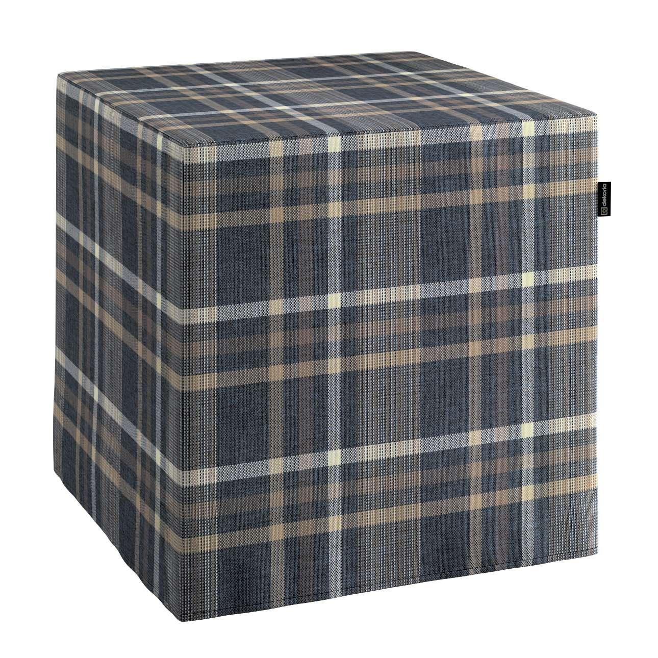 Pufa kostka w kolekcji Edinburgh, tkanina: 703-16
