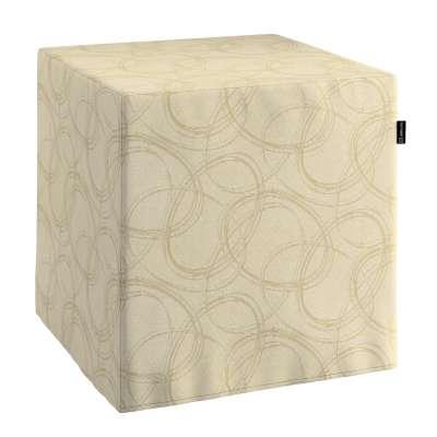 Sedák Cube - kostka pevná 40x40x40 161-81 geometrický vzor na krémovém pozadí  Kolekce Living