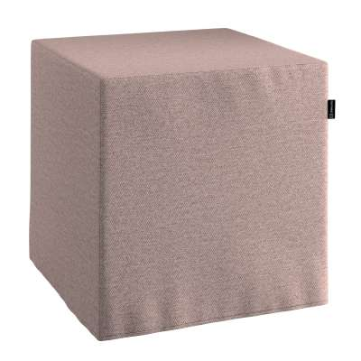 Pouf seat cube 161-88 grey-pink blend Collection Madrid