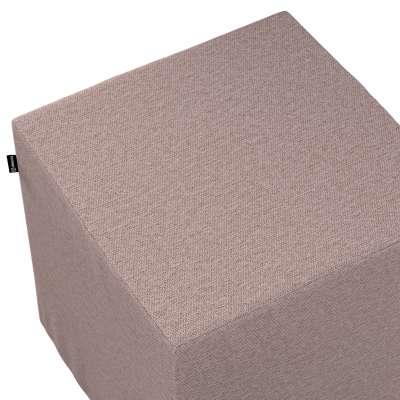 Sedák Cube - kostka pevná 40x40x40 161-88 šedo - růžová melanž Kolekce Madrid