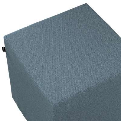 Sedák Cube - kostka pevná 40x40x40 161-90 džínová melanž Kolekce Madrid