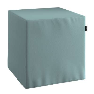 Pouf seat cube 702-40 eucalyptus green Collection Panama Cotton