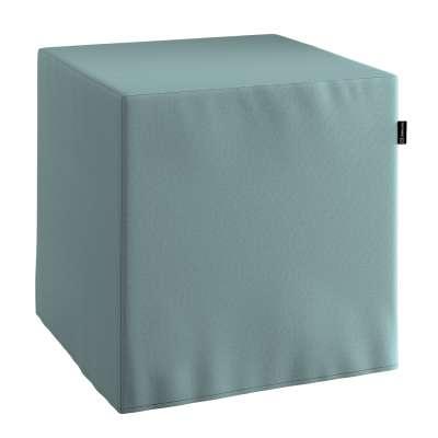 Sedák Cube - kostka pevná 40x40x40 702-40 eukaliptusowy błękit Kolekce Cotton Panama