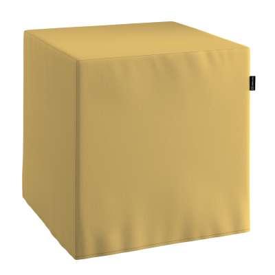 Pouf seat cube 702-41 muted yellow Collection Panama Cotton
