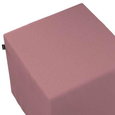 Sedák Cube - kostka pevná 40x40x40 702-43 zgaszony róż Kolekce Cotton Panama