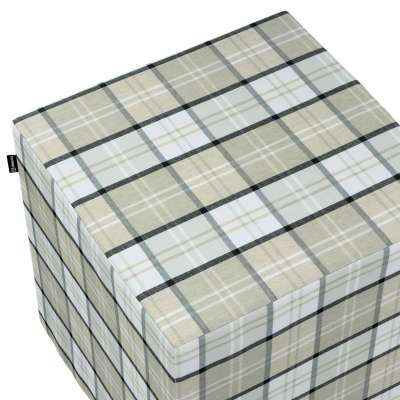 Pouf seat cube 143-64 gray-beige check Collection Bristol