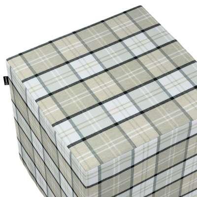 Sedák Cube - kostka pevná 40x40x40 143-64 kostka šedo-bežová Kolekce Bristol