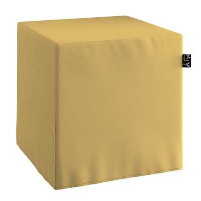 Puf kostka Nano 702-41 zgaszony żółty Kolekcja Cotton Story
