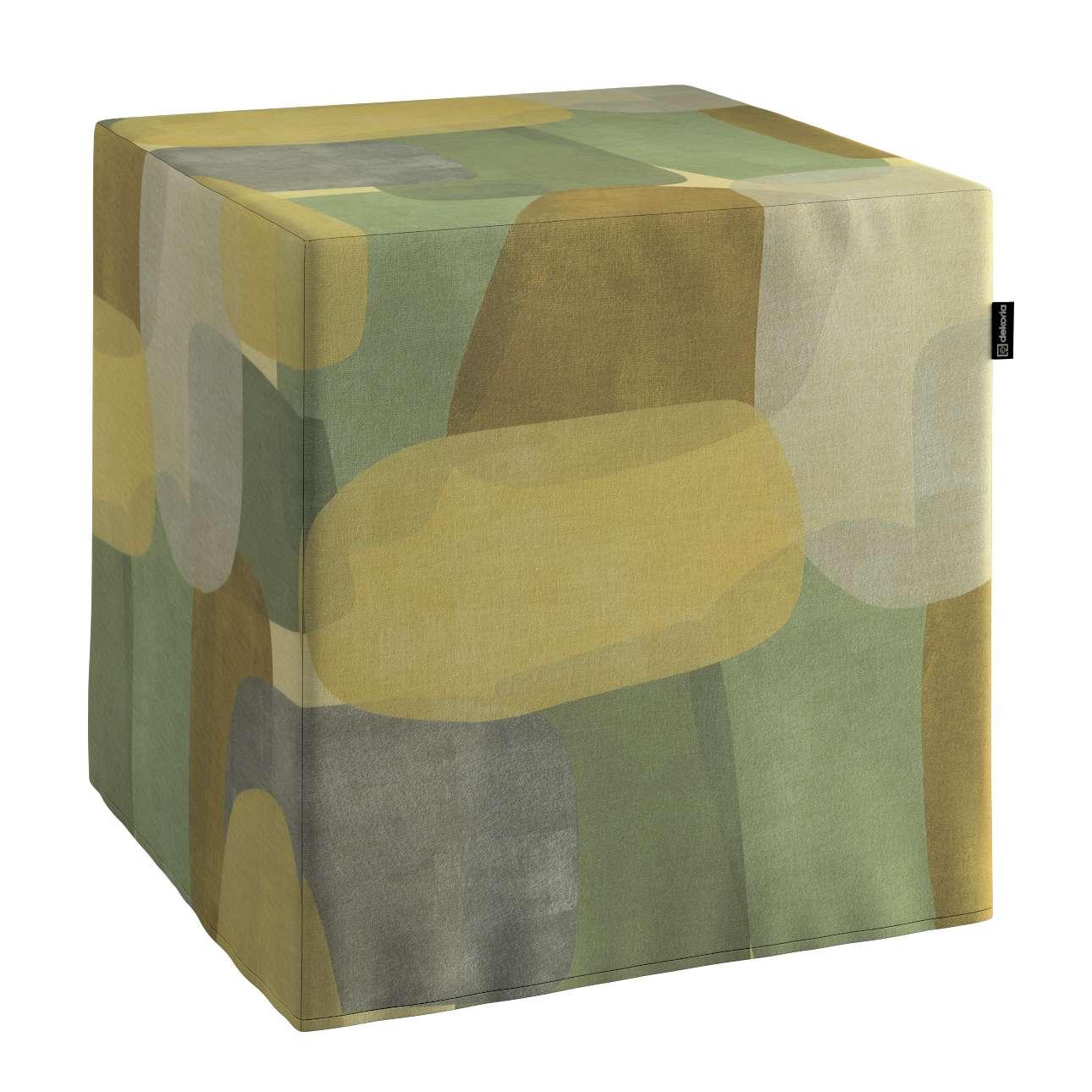 Pufa kostka w kolekcji Vintage 70's, tkanina: 143-72