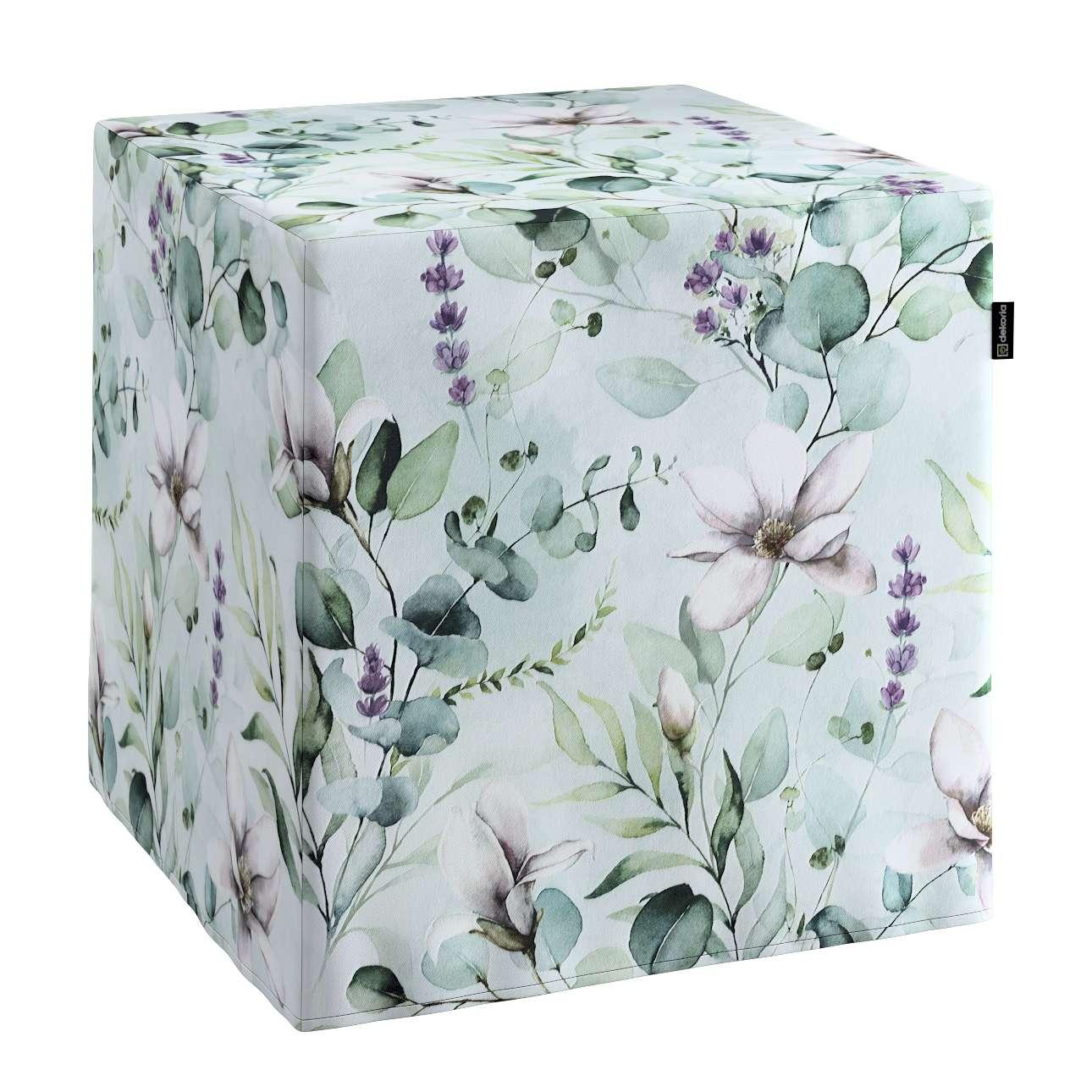 Harde zitkubus van de collectie Flowers, Stof: 143-66