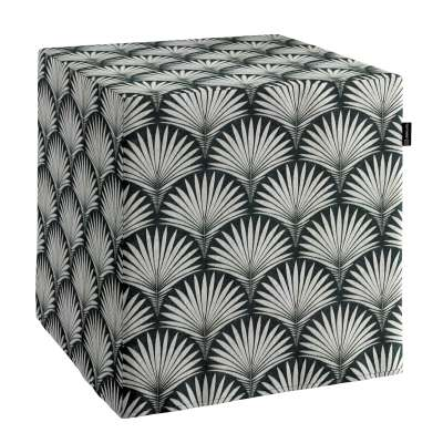 Pouf seat cube 143-74 grey patterns on a black background Collection Comics/Geometrical