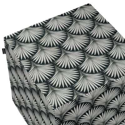 Sedák Cube - kostka pevná 40x40x40 143-74 szare wzory na czarnym tle Kolekce Comics