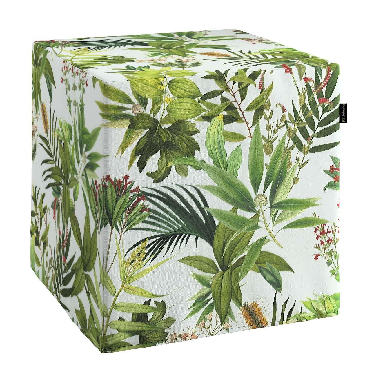 Pufa kostka w kolekcji Tropical Island, tkanina: 143-69