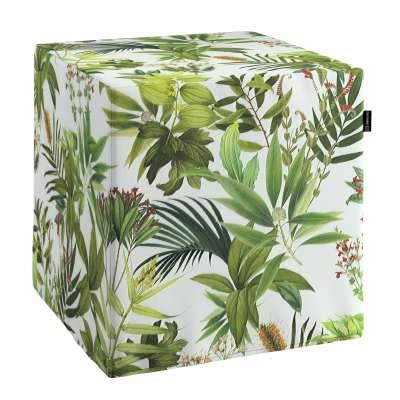 Harde zitkubus 143-69 groen-wit Collectie Tropical Island
