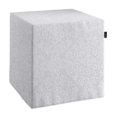 Sedák Cube - kostka pevná 40x40x40 140-49 ornament v jemném lesku na šedém podkladu Kolekce Christmas