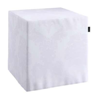 Sedák Cube - kostka pevná 40x40x40 613-00 bílá Kolekce Christmas