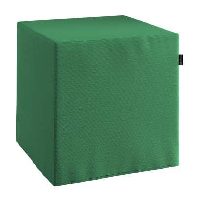 Sedák Cube - kostka pevná 40x40x40 133-18 lahvově zelená Kolekce Christmas