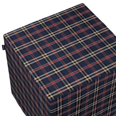 Sedák Cube - kostka pevná 40x40x40 142-68 kostka modro-červená Kolekce Christmas