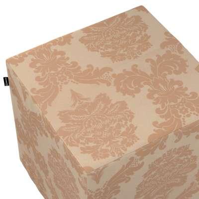 Taburetka tvrdá, kocka V kolekcii Damasco, tkanina: 613-04