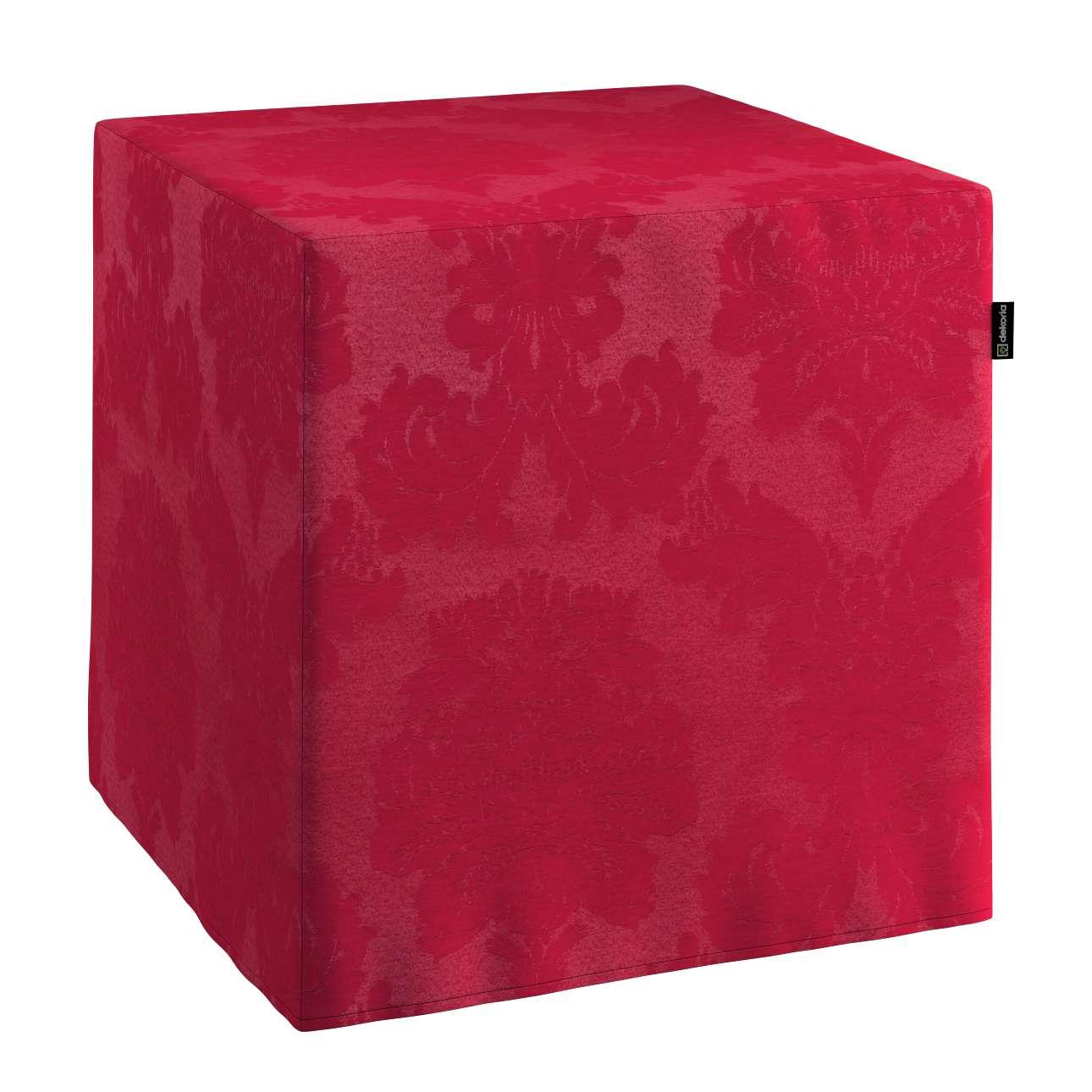 Sedák Cube - kostka pevná 40x40x40 v kolekci Damasco, látka: 613-13