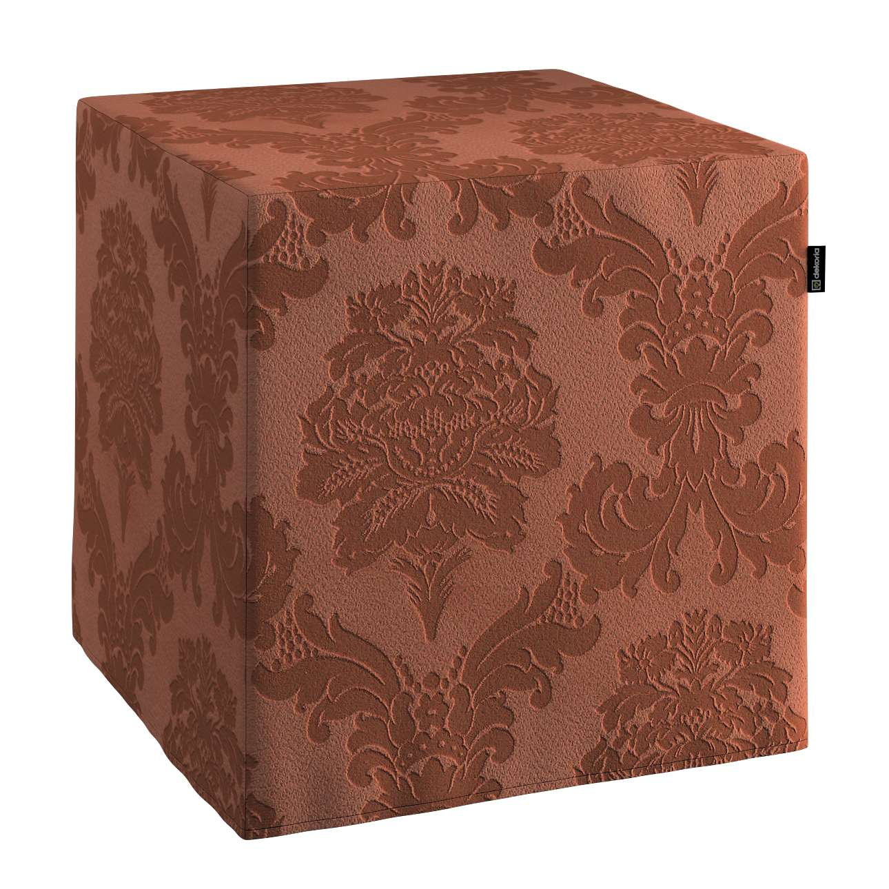 Sedák Cube - kostka pevná 40x40x40 v kolekci Damasco, látka: 613-88