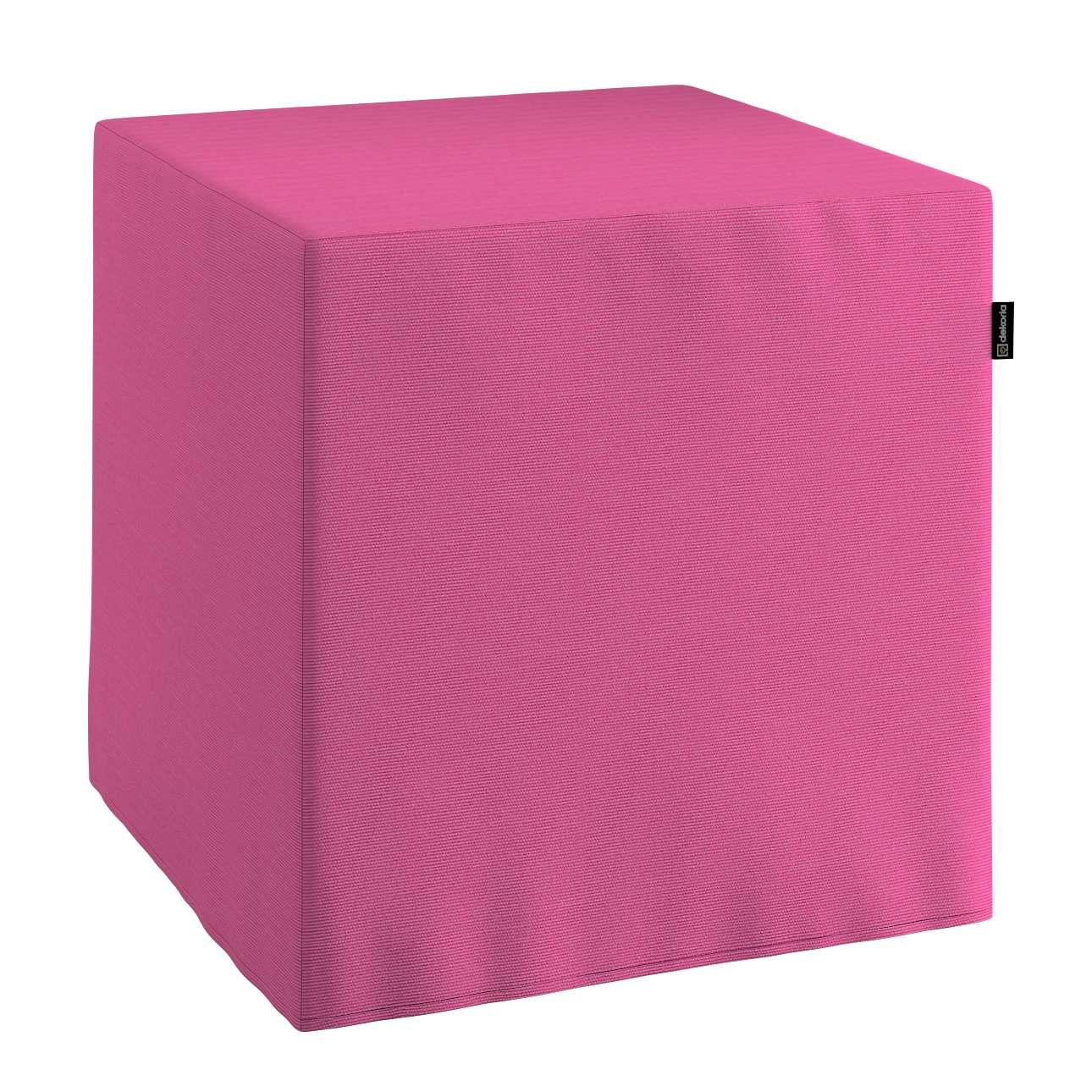 Sedák Cube - kostka pevná 40x40x40 v kolekci Jupiter, látka: 127-24