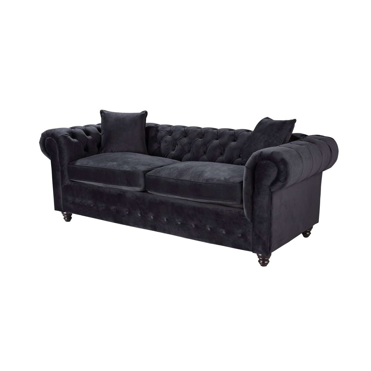 sofas sofa chesterfield velvet onyx 3 sitzer sofas. Black Bedroom Furniture Sets. Home Design Ideas