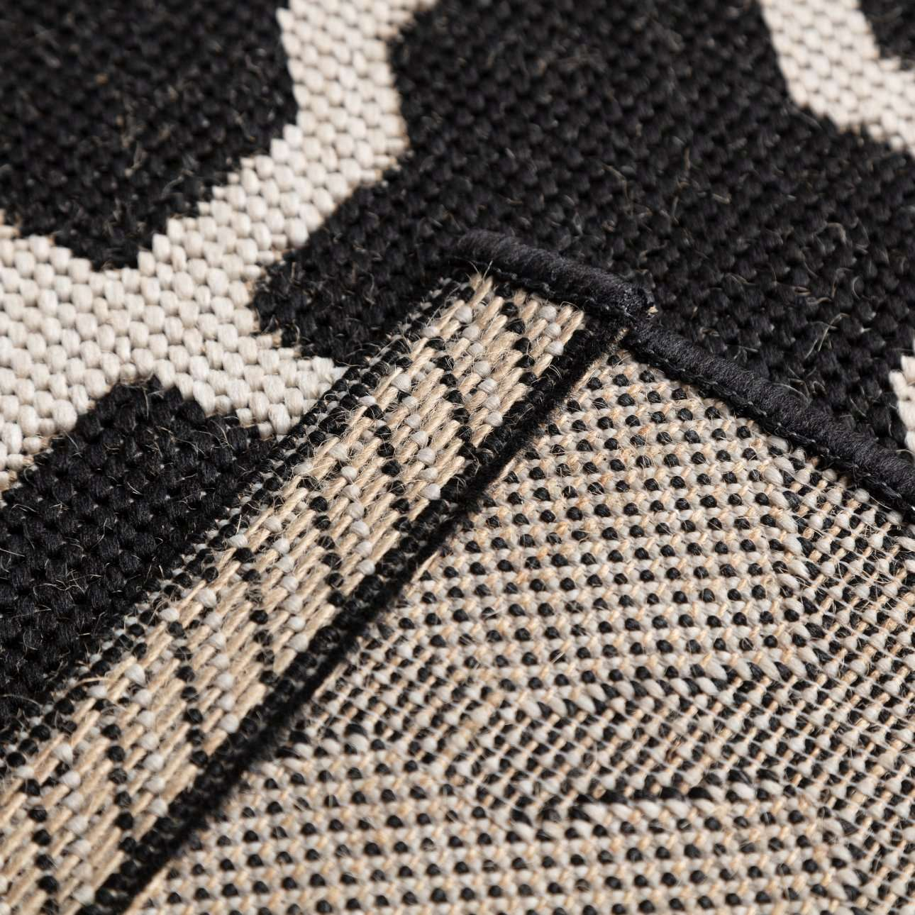 Teppich Cottage black/ wool 67x130cm