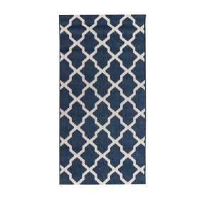 Teppich Cottage blue/ wool 67x130cm